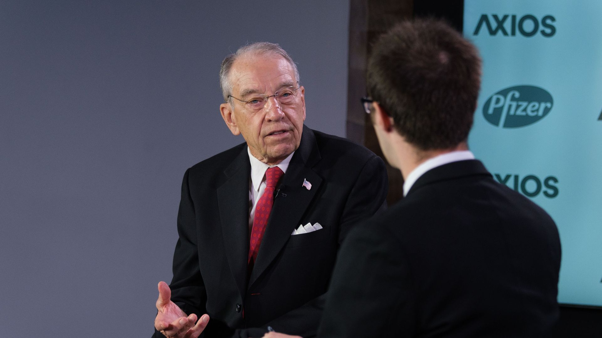 Senator Chuck Grassley in conversation with Axios Health Care reporter, Bob Herman.