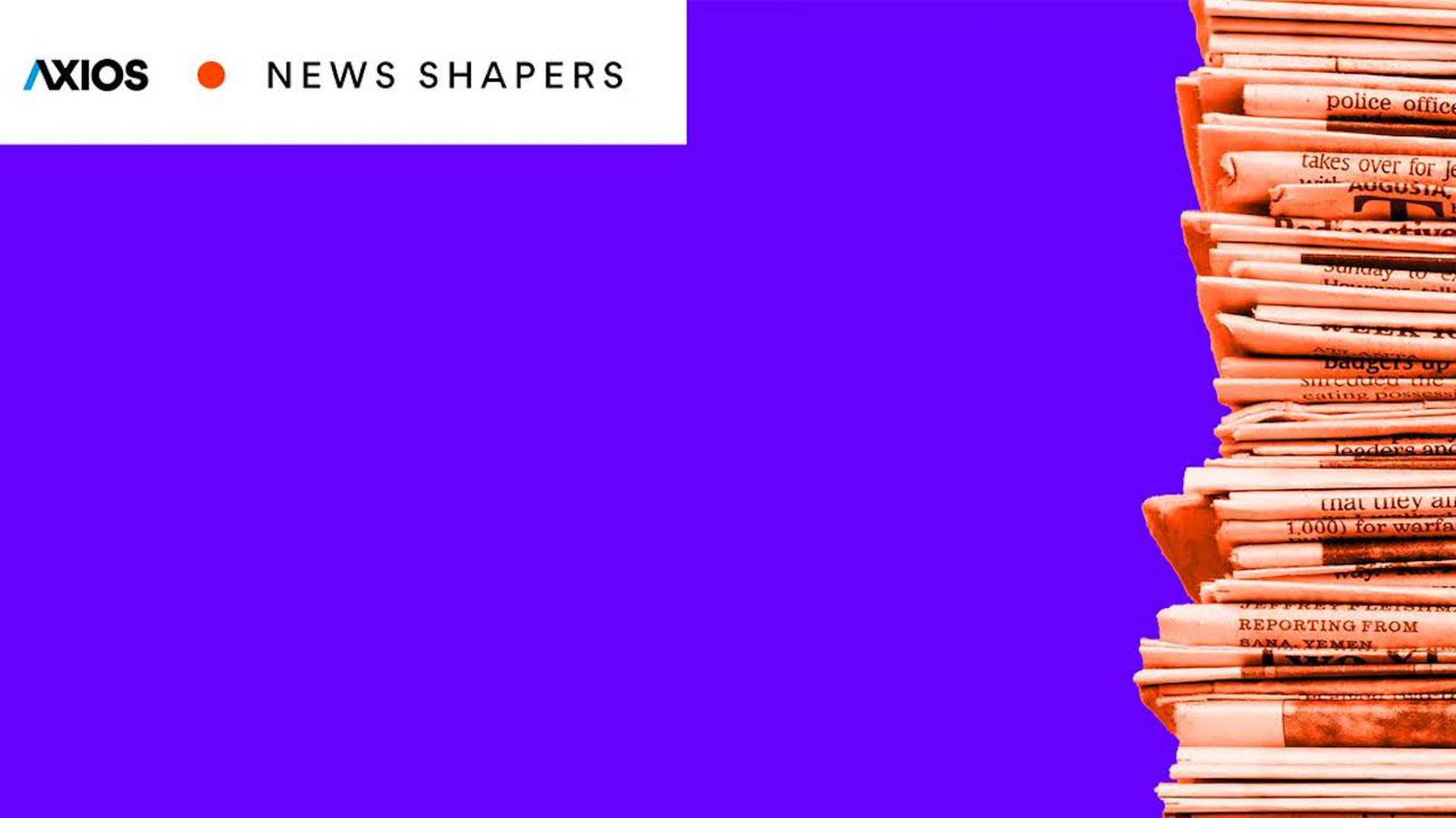 Logo design for the News Shapers event series.