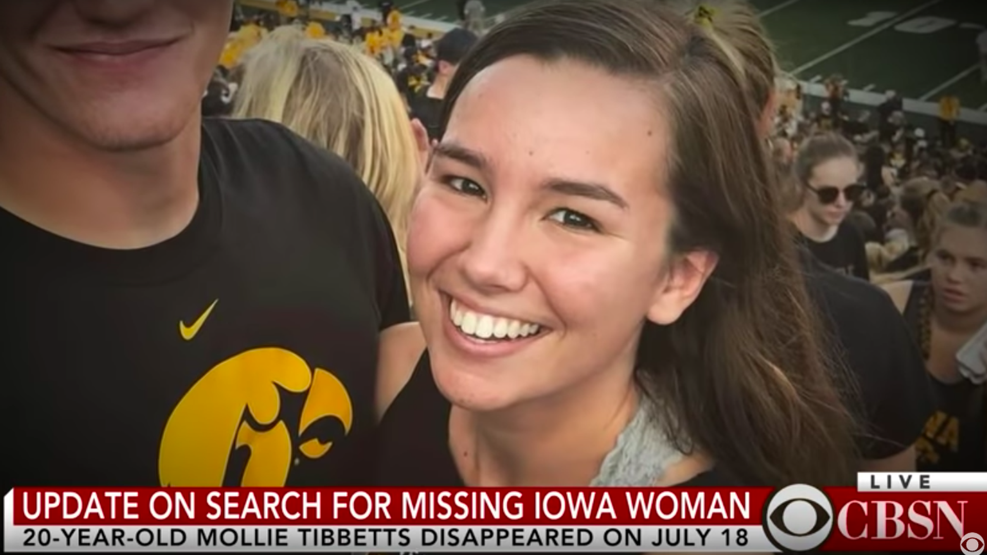 University of Iowa student Mollie Tibbetts, 20. Photo: Screenshot via CBS News YouTube