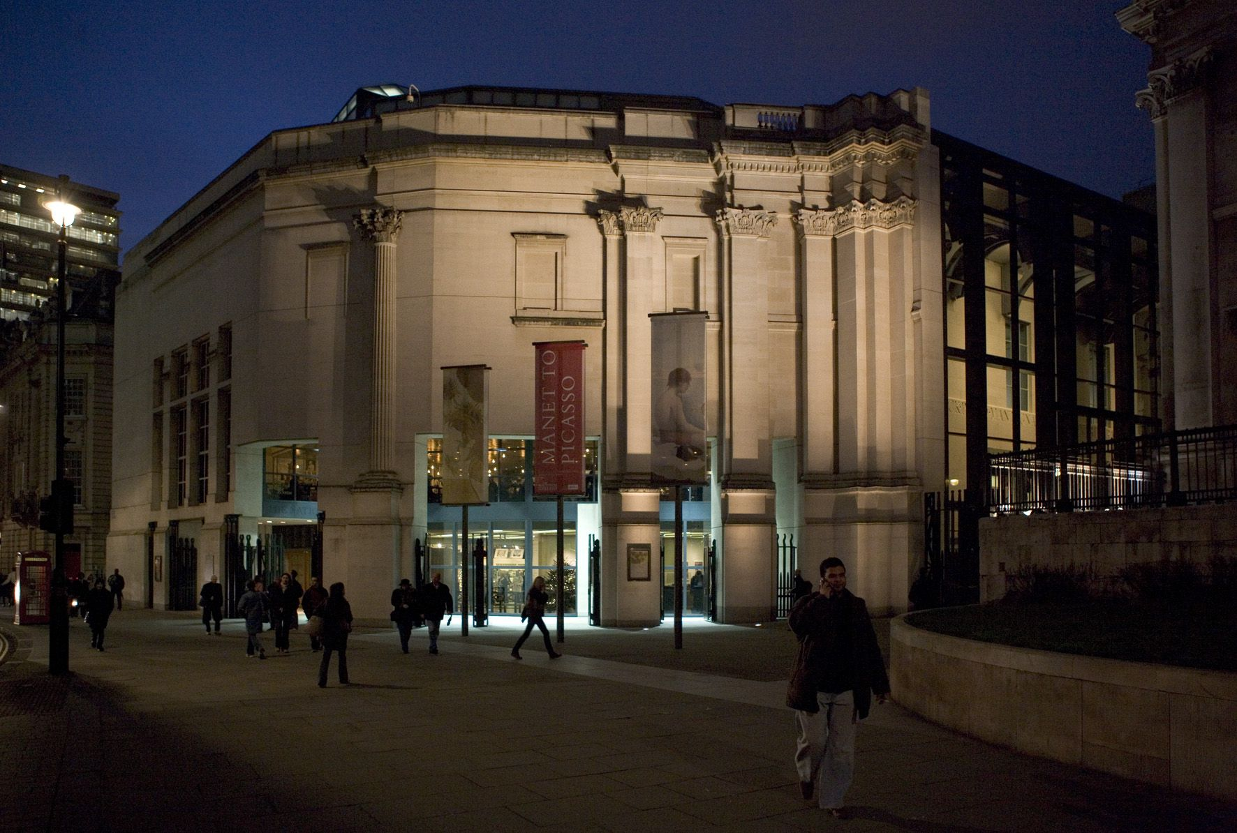 The Sainsbury Wing of the National Gallery, in London