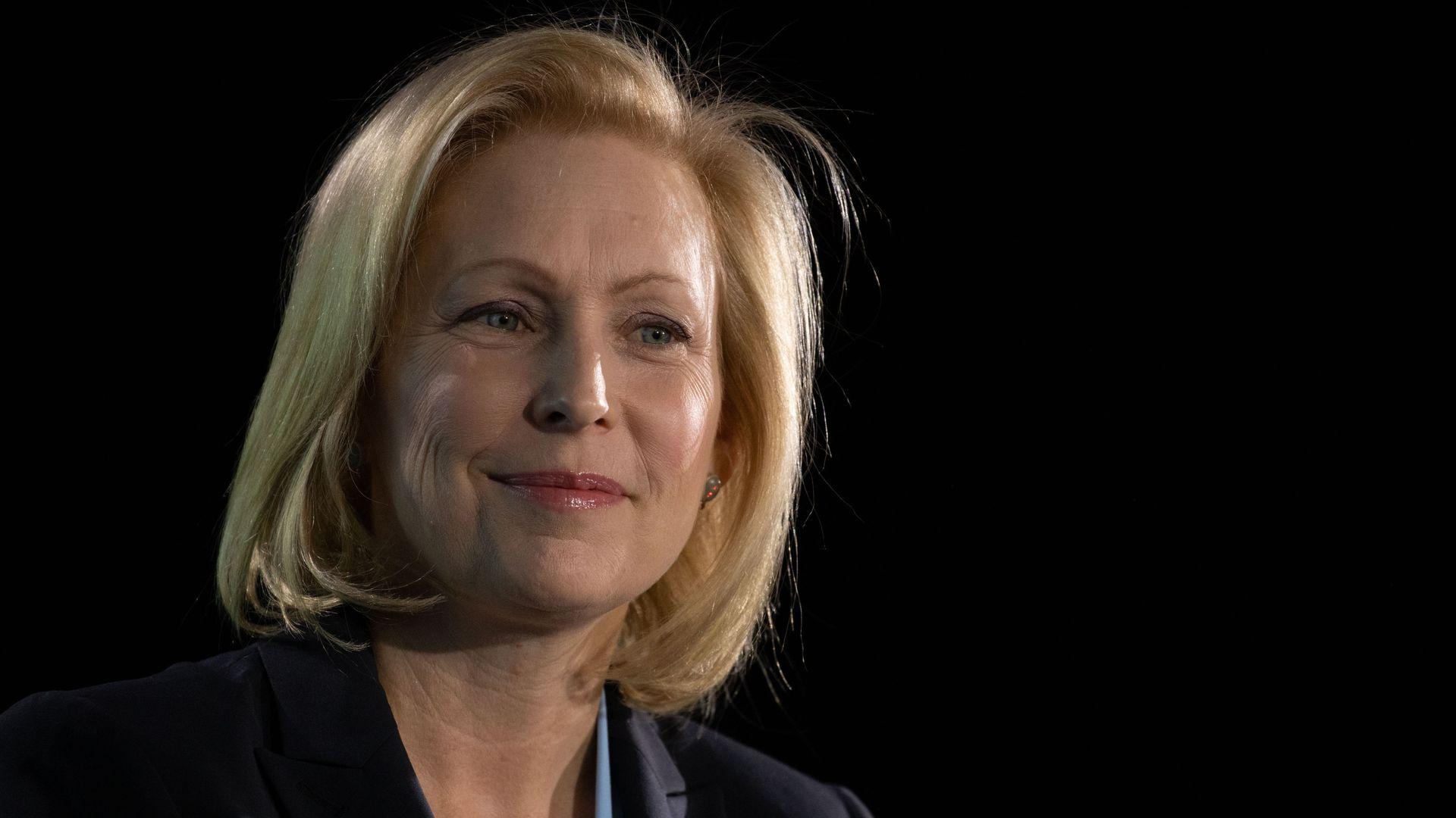 Sen. Kirsten Gillibrand on the Axios stage.