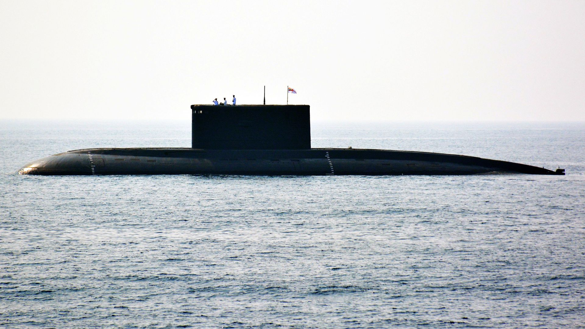 Indian submarine at sea