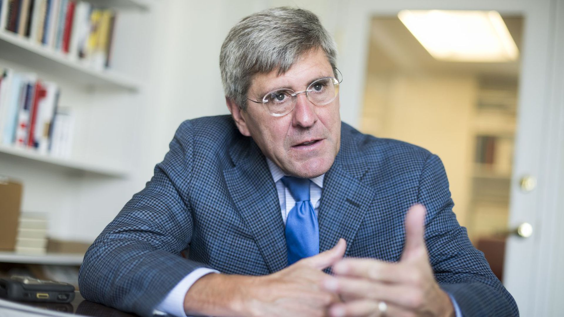 """Stephen Moore says his critics are """"pulling a Kavanaugh against me"""" after controversial writings of his from the 2000s were uncovered."""