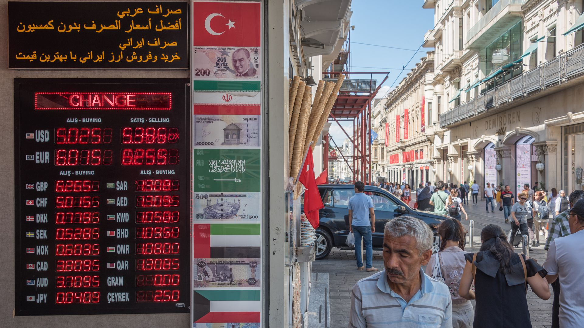Foreign exchange booth in Turkey