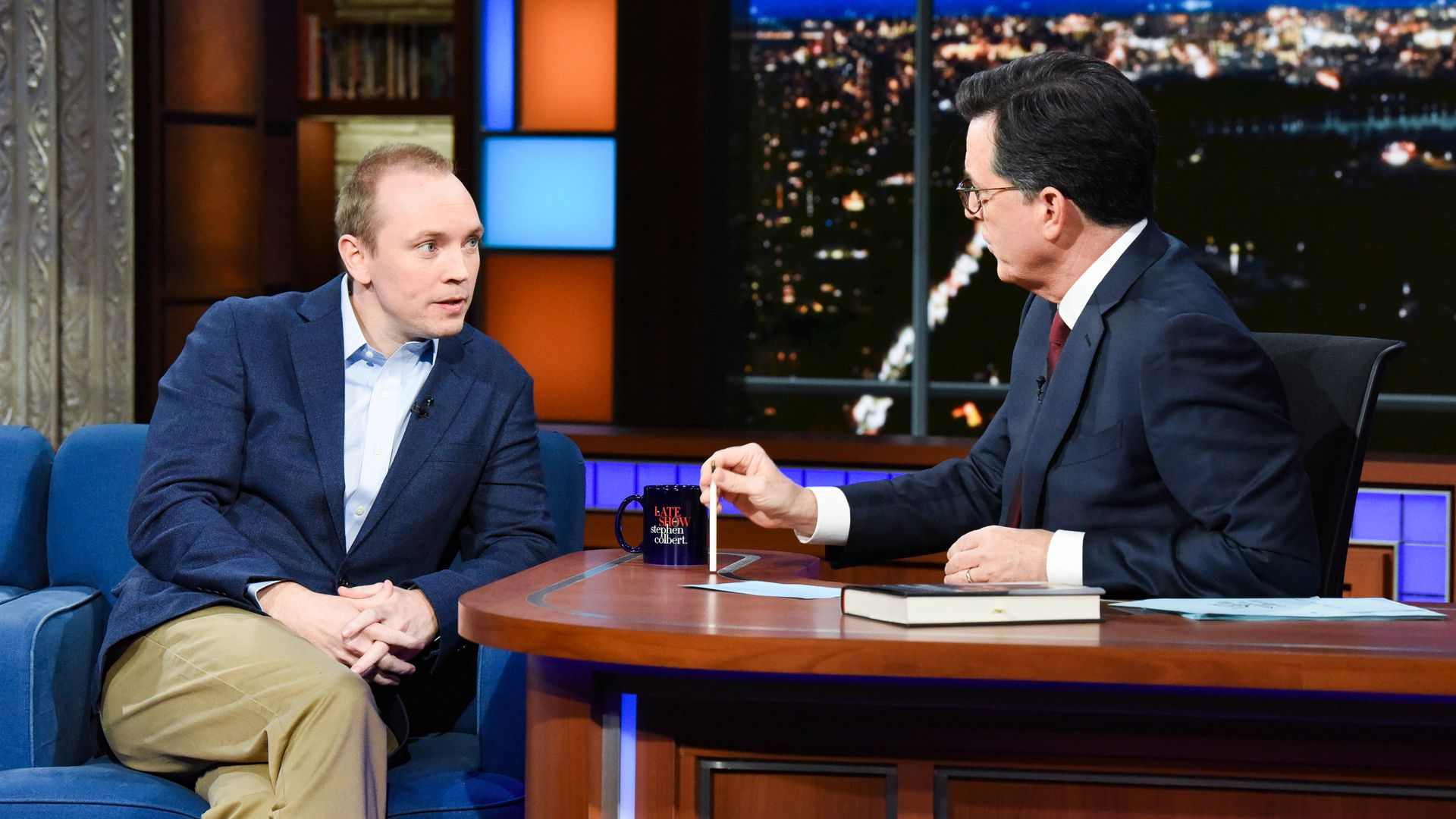 Former White House communications aide Cliff Sims on The Late Show with Stephen Colbert.