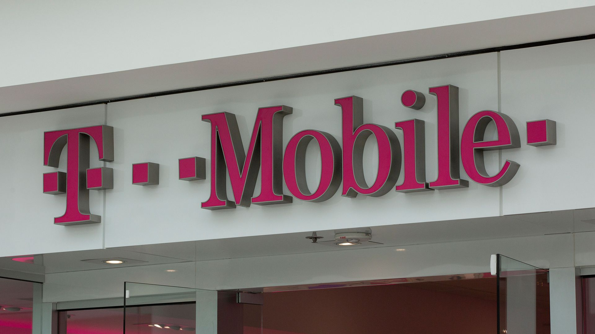 T-Mobile logo on storefront