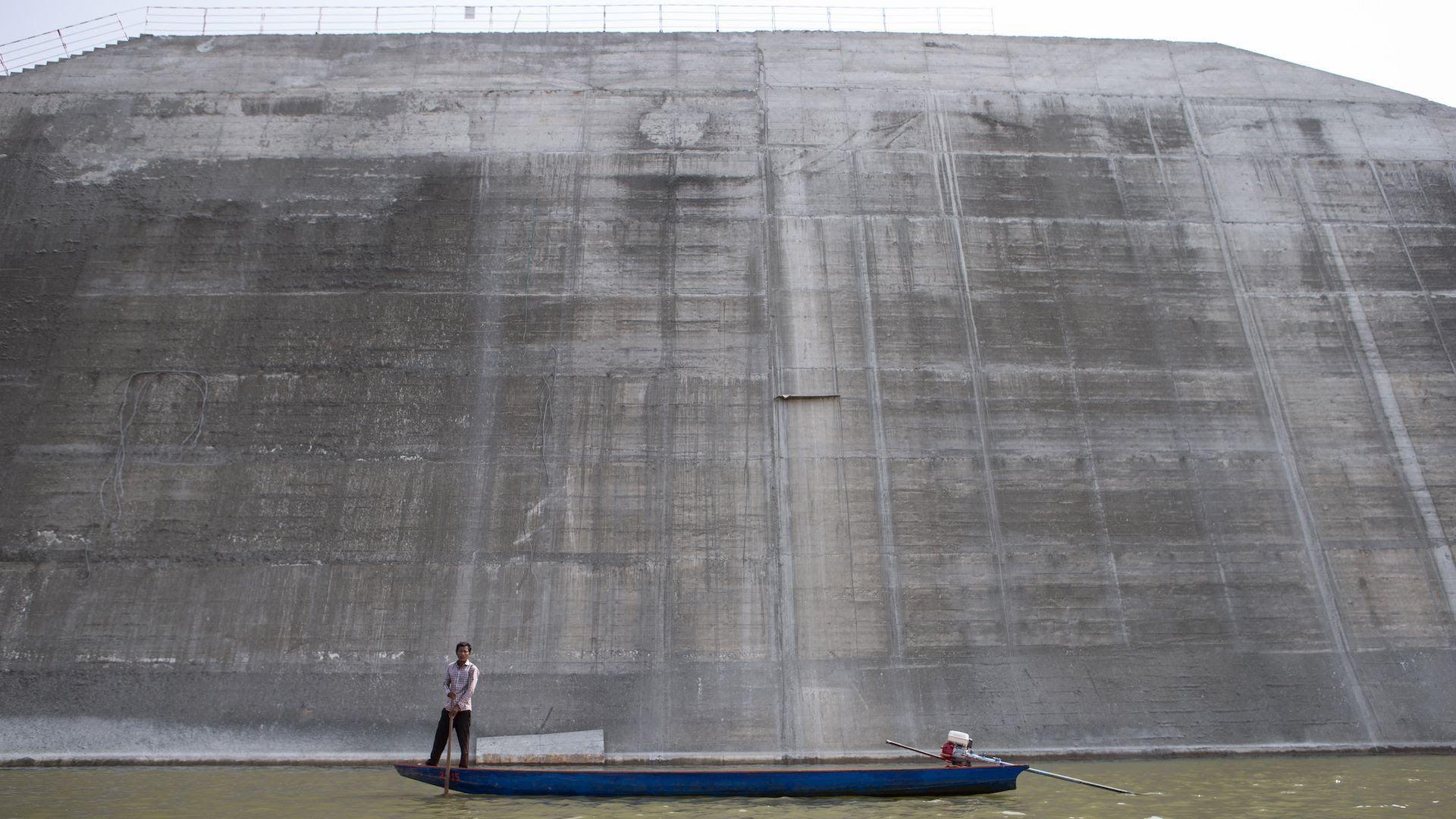 The Sesan 2 dam in Stung Treng, Cambodia