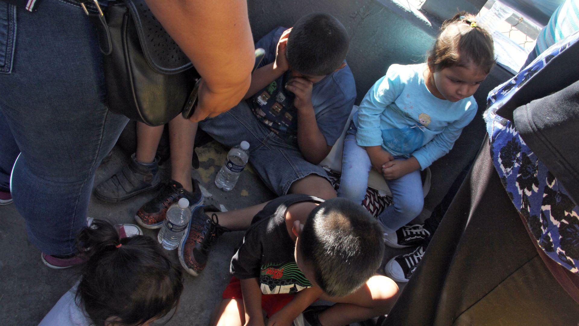 Children detained st the border