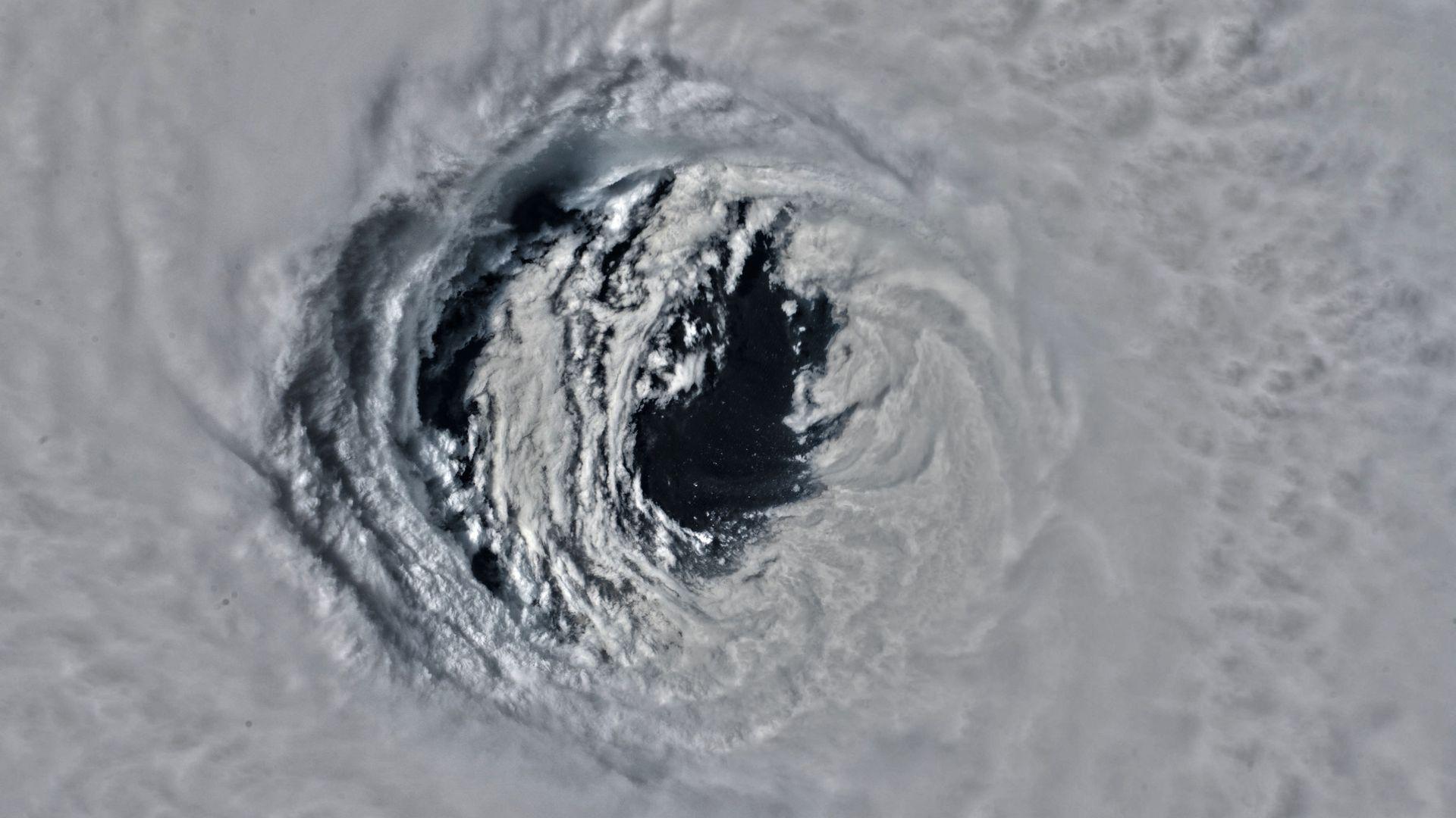 Eye of hurricane michael