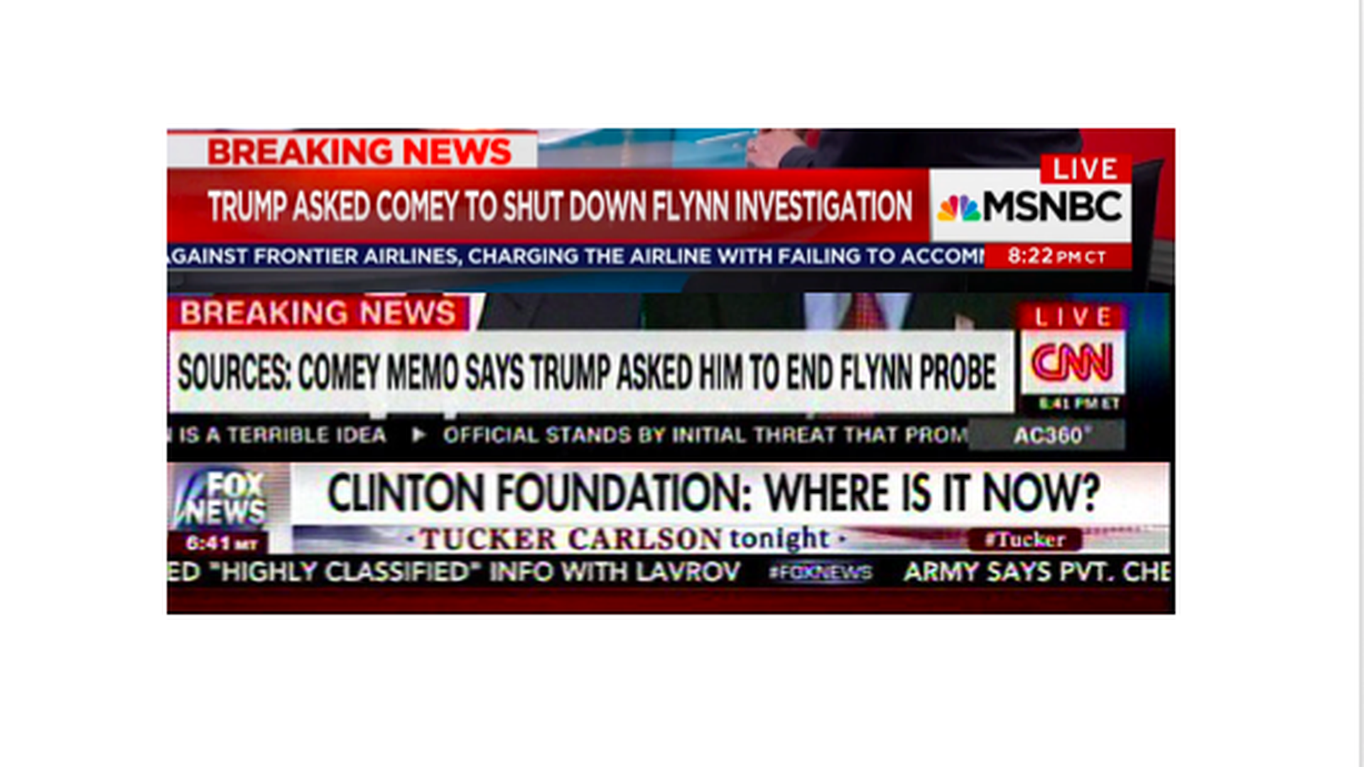 What Fox covered instead of the Comey memo - Axios