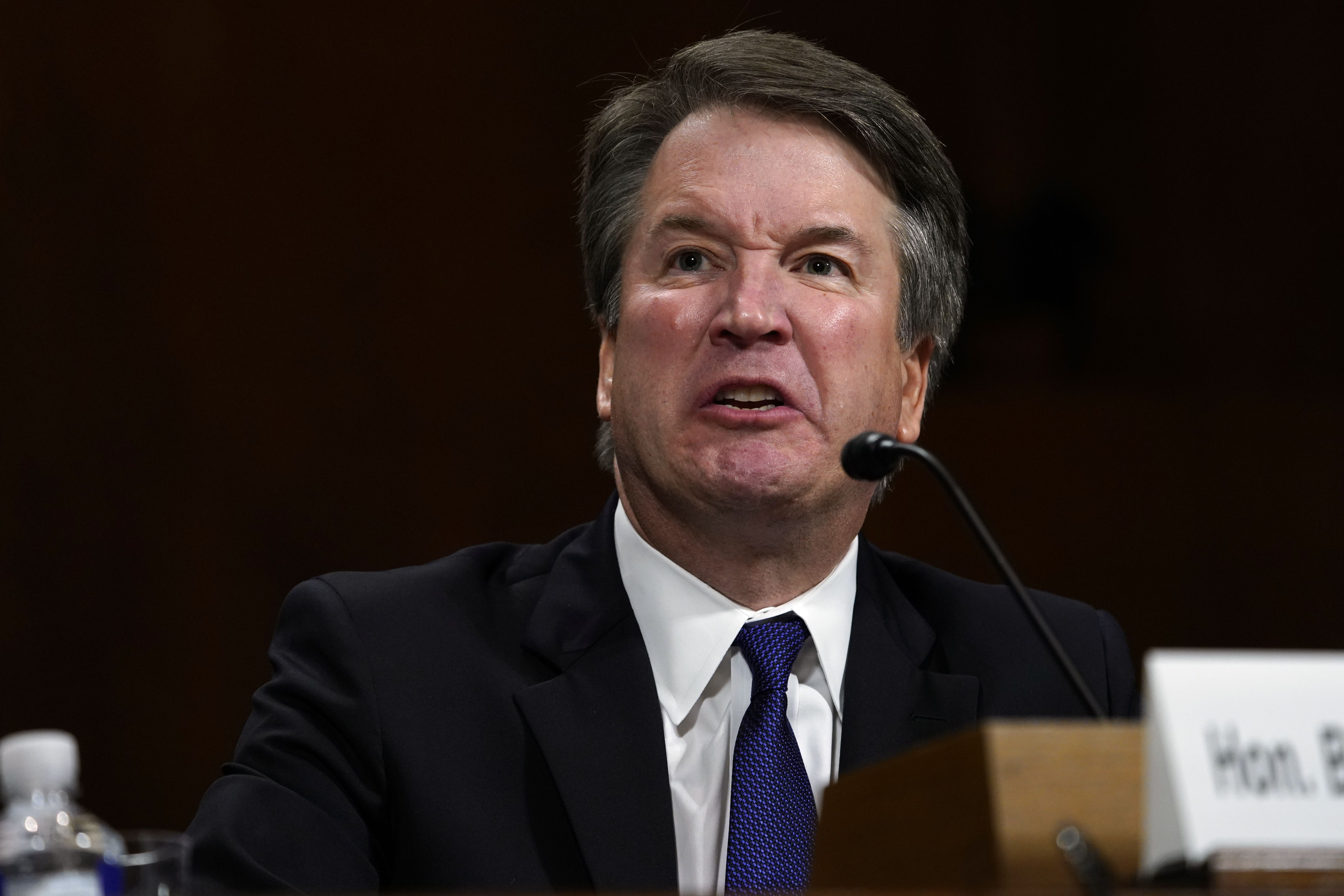 Supreme Court nominee Brett Kavanaugh testifies before the Senate Judiciary Committee on Thursday. Photo: Andrew Harnik - Pool/Getty Images