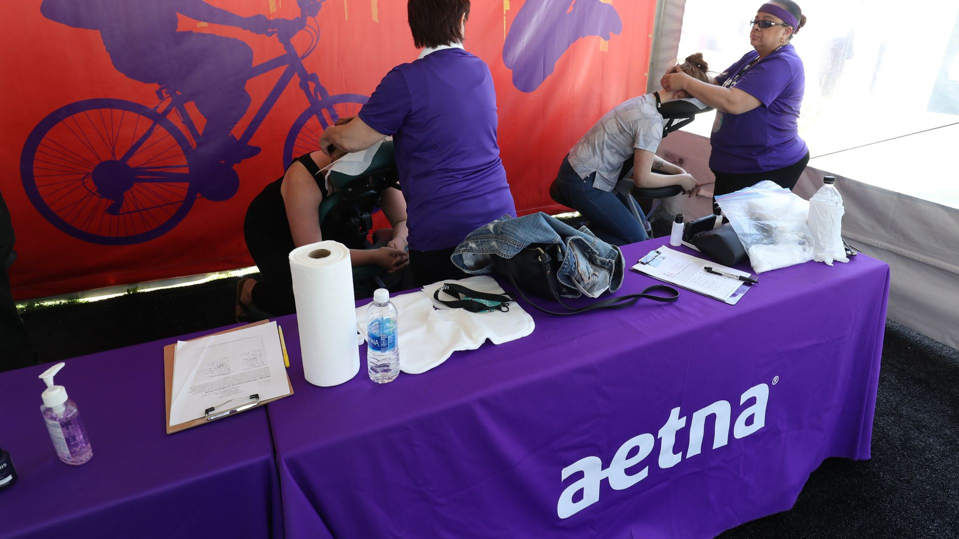 An Aetna tent at an event in New York.