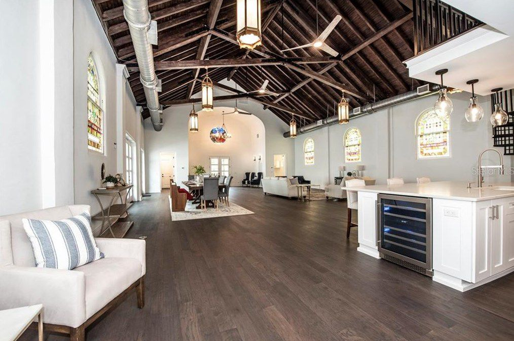St. Pete church turned luxury home interior