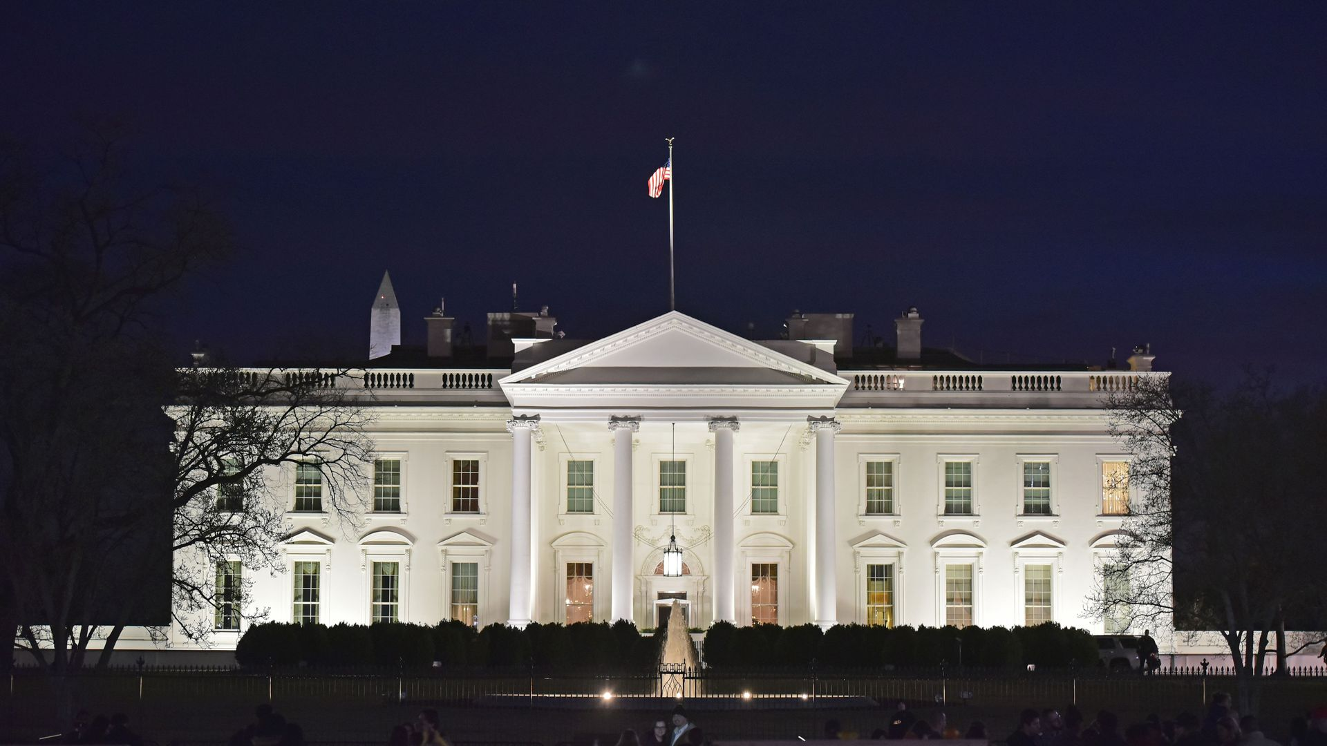 The White House at nighttime