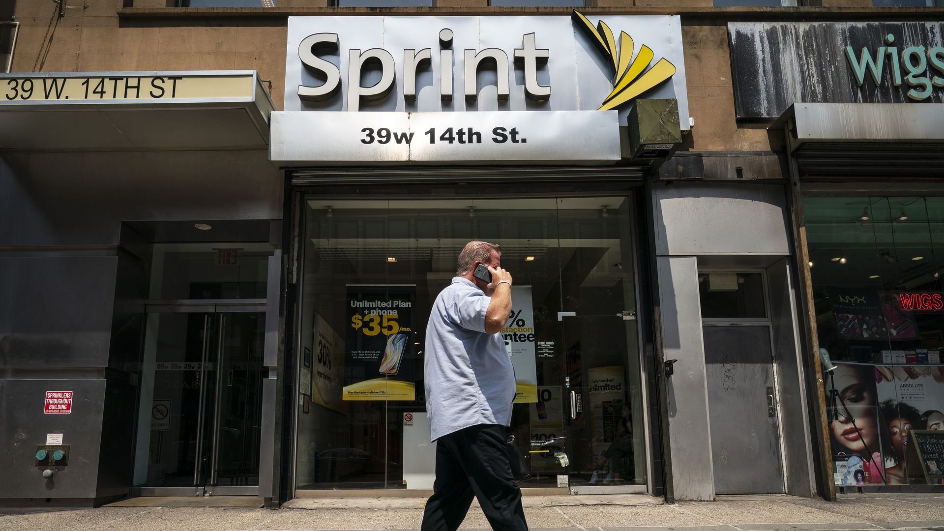 A Sprint on store on 14th Street in Manhattan
