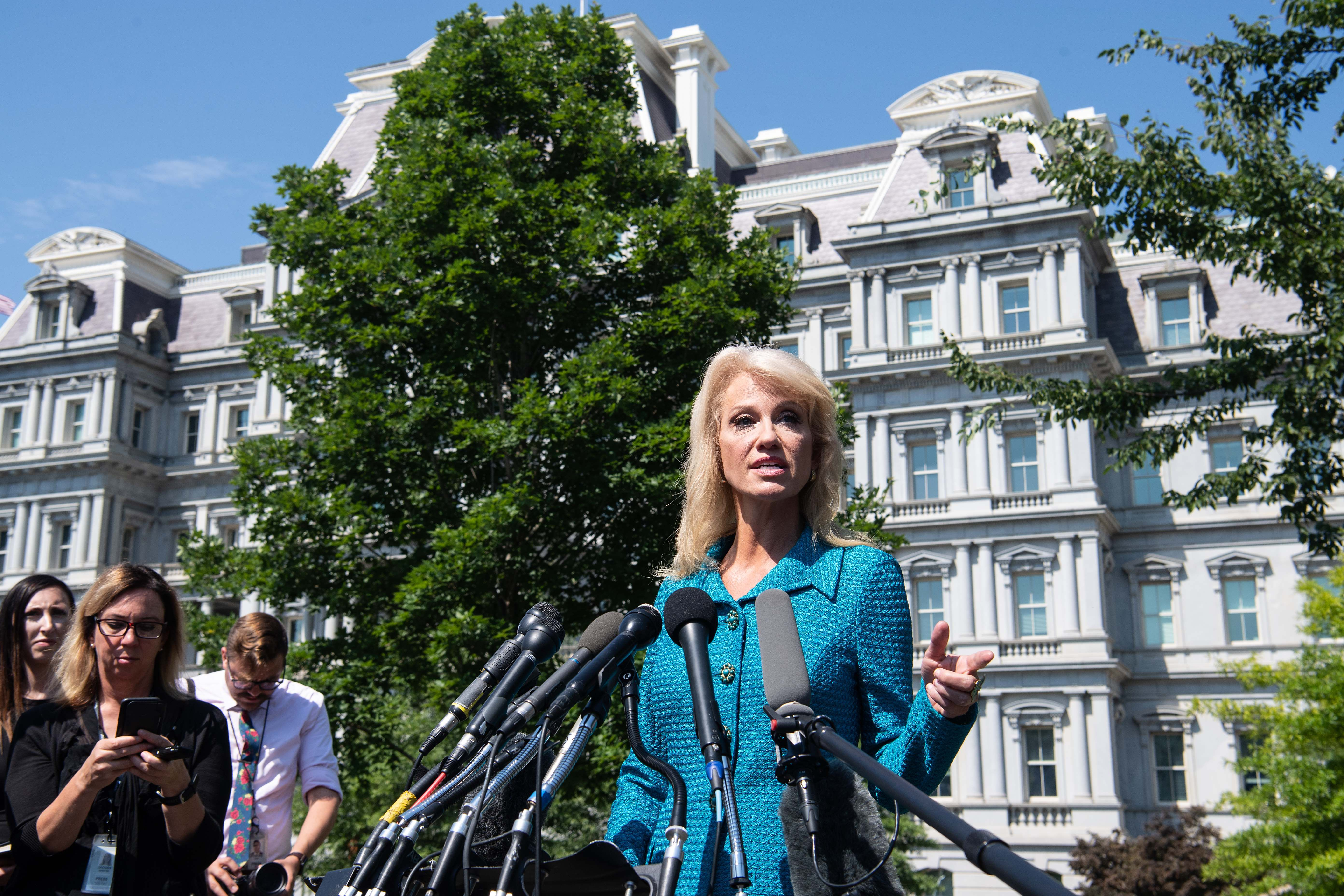 Kellyanne Conway clashes with CNN's Amanpour over Trump's rhetoric - Axios