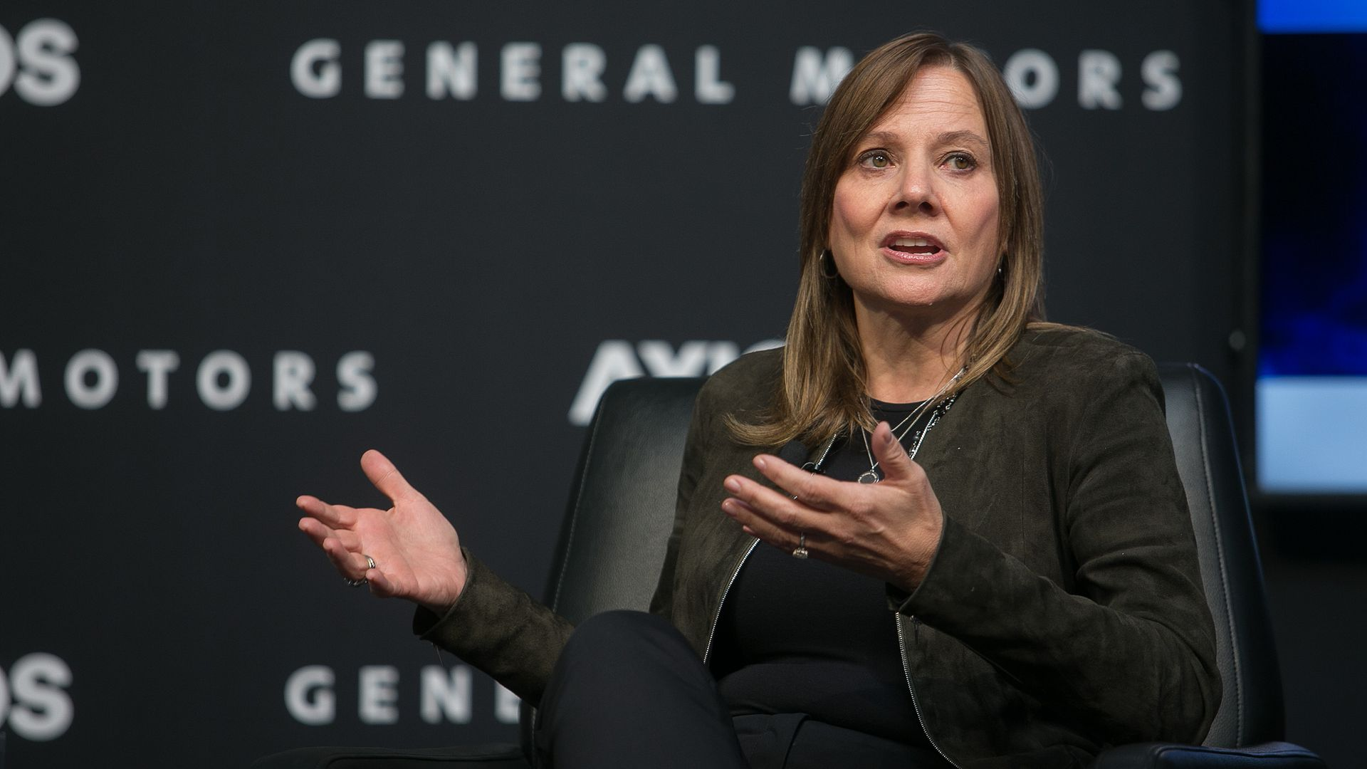 General Motors CEO Mary Barra at an Axios event in Boston.