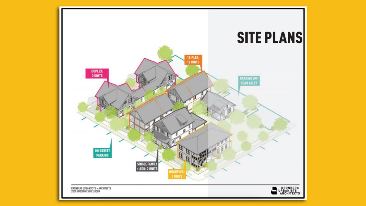 Site plan where new homes will be constructed near Westside Park in Atlanta