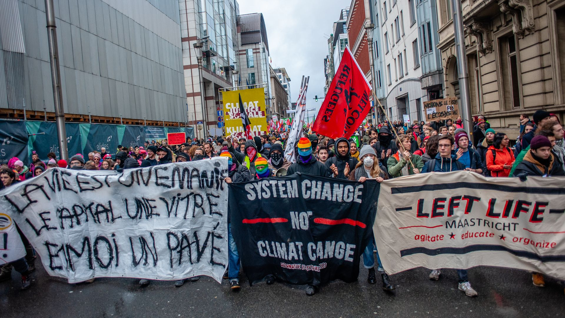 Climate march in Brussels