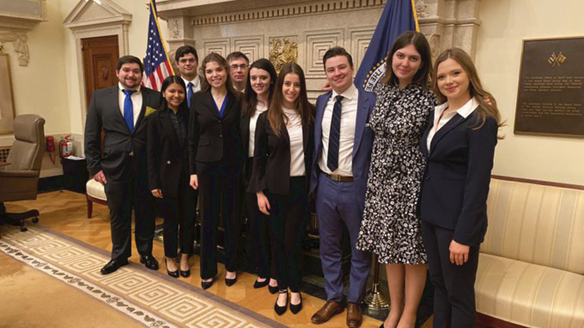 """Pace University's """"National College Fed Challenge"""" team"""