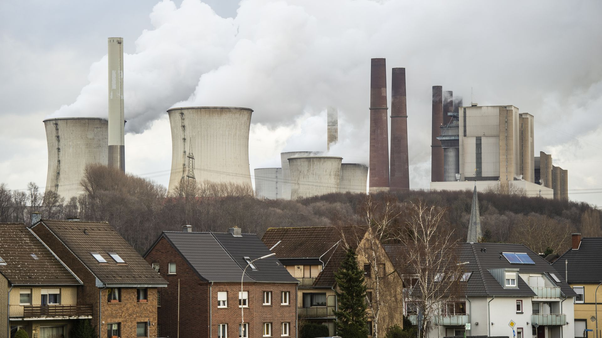 Coal plants in a German town