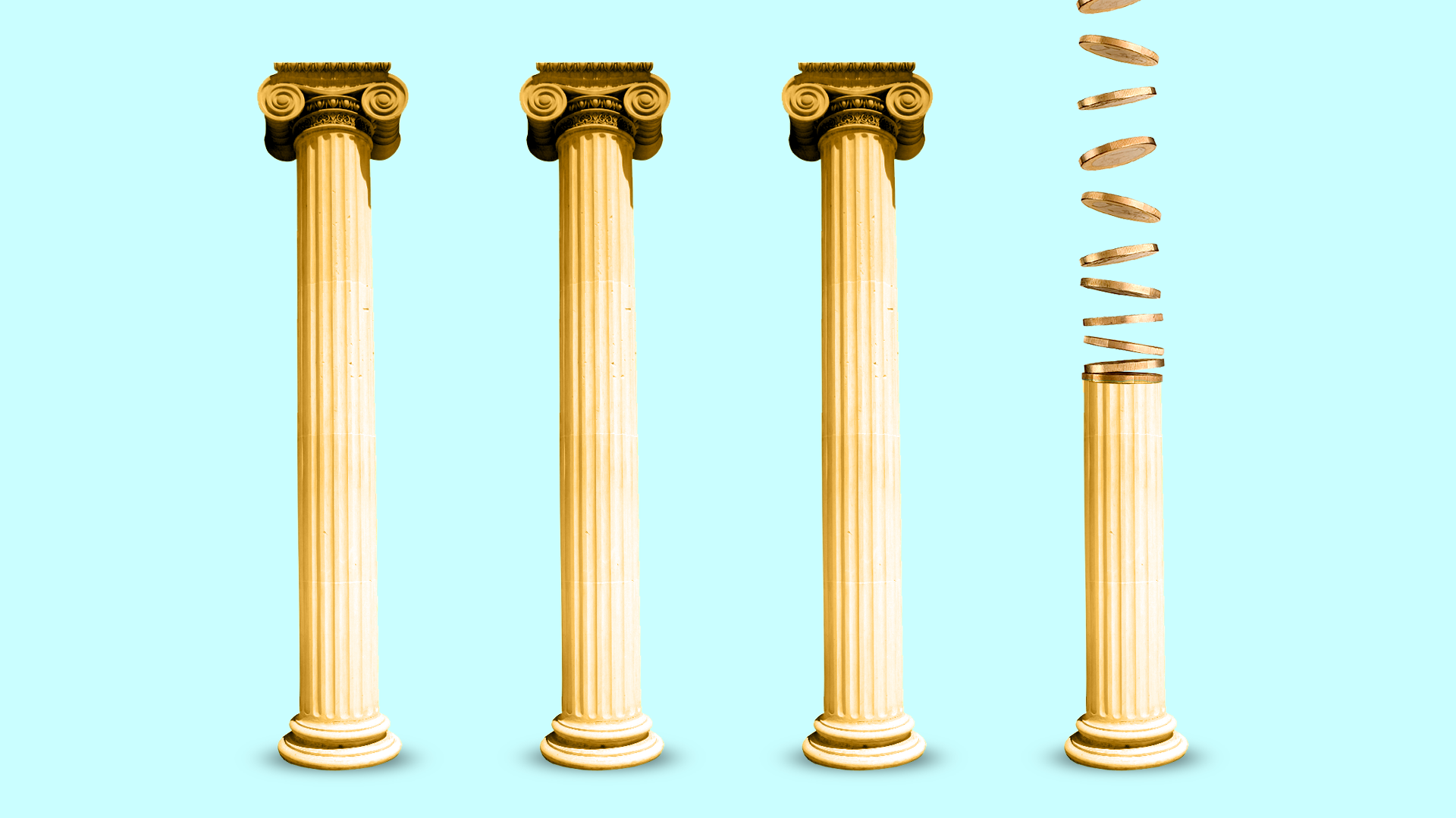 illustration of Greek pillars