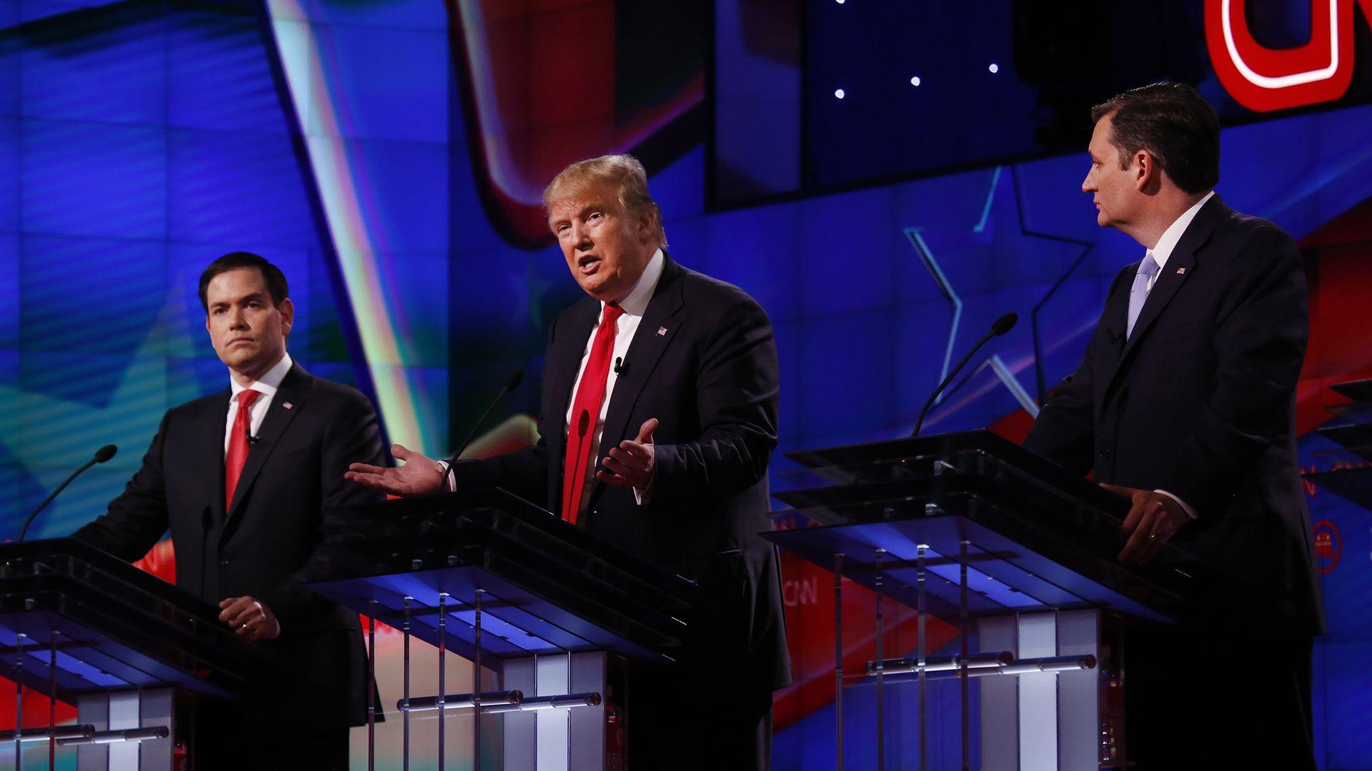 Rubio, Trump and Cruz