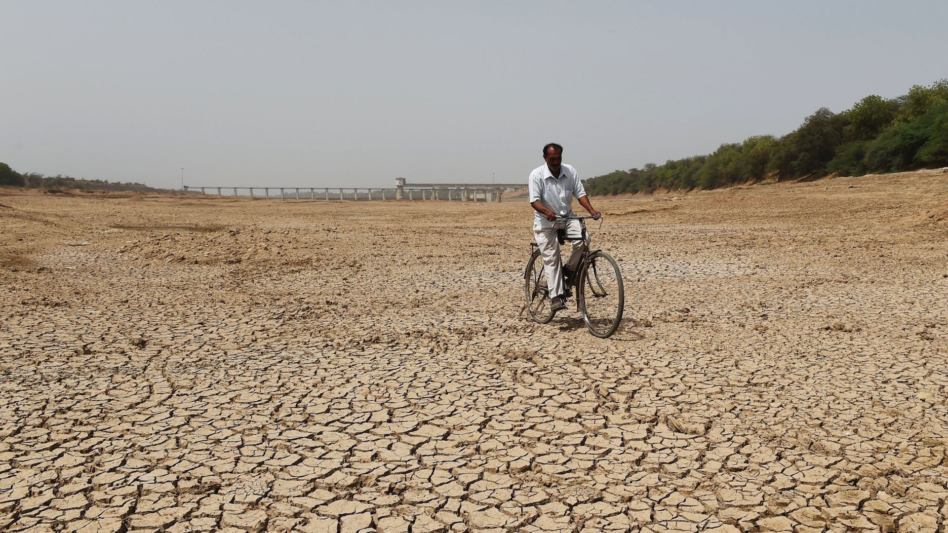 Drought conditions in India.