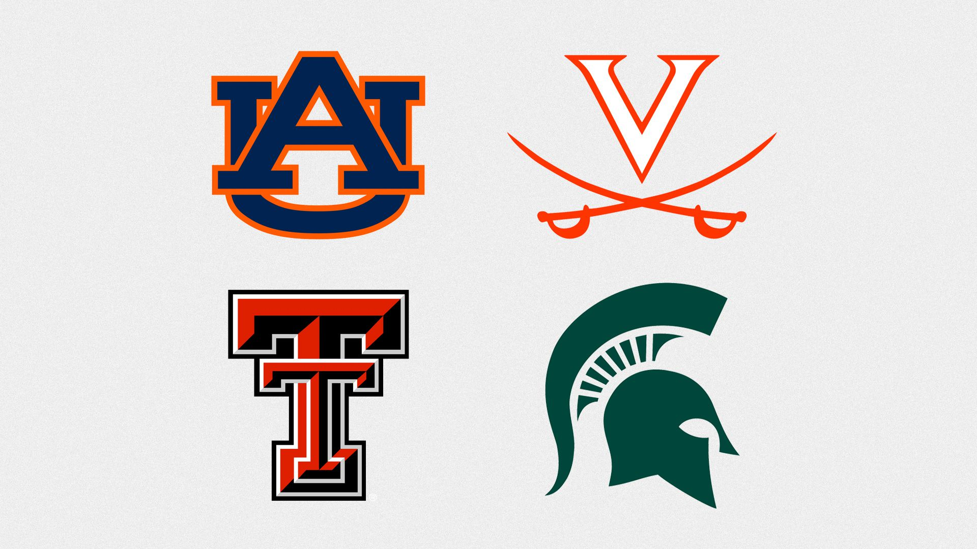 The logos for the Final Four teams